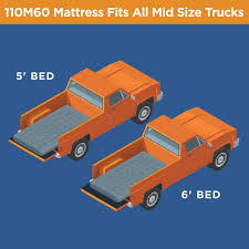 Rightline Gear 110M60 Mid Size Truck Bed Air Mattress (5' to 6' bed ...