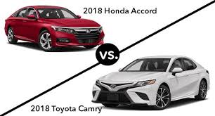 Honda Accord Model Comparison Chart 2018 Honda Accord Vs 2018 Toyota Camry Side By Side