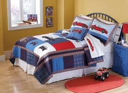 awesome pem america cars quilt with pillow sham cars toddler bed set decor