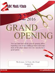Free Grand Opening Flyer Template Grand Opening Flyer Template Publisher Flyer Templates