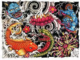 Japanese tattoo, Dragon tattoo wallpaper