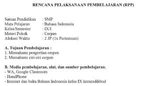 Pekerjaannya dengan hasil pekerjaan teman untuk membahas jawaban tes kognitif tersebut. Pdf Download Rpp Bahasa Indonesia K13 Kelas 9 Kanal Jabar