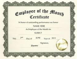 Employee Of The Month Template With Photo 26 Images Of City Of The Month Certificate Template Employee