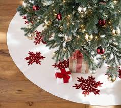 personalized embroidered snowflake tree skirt