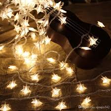 4m 40leds 3aa battery powered star shaped theme led string fairy lights holiday wedding decoration party lighting led strings led 2017 with
