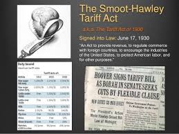 「Smoot-Hawley Tariff Act」の画像検索結果