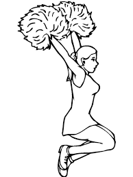 You can be whatever you want, whatever your hello kitty, the fictional character designed by japanese designer yuko shimizu, is one of the most popular subjects for kid's coloring pages. Cheerleader Coloring Pages Free Printable Cheerleader Coloring Pages