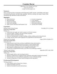 Amazing Food Handler Resume Picture Collection Resume Ideas