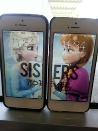 matching your wallpaper with your best friend 245 hearts collect share frozen iphone and twinning image