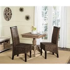 safavieh rural woven dining ilya brown multi wicker dining chairs set of 2