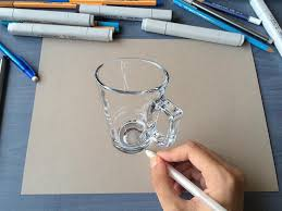 hyperrealistic 3d drawings by sushant rane glass 2
