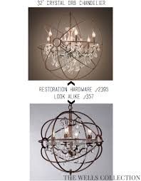 restoration hardware look alike chandelier