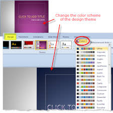change color scheme of powerpoint 2010 design themes wendy russell change color scheme theme