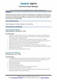 Technical Project Manager Resume Samples Qwikresume