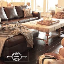 Leather Sectional Living Room Neutral Living Room With Brown Grey Gray Cream Beige Linen Tufted