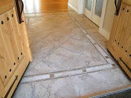 tile design floor in entry double entry door