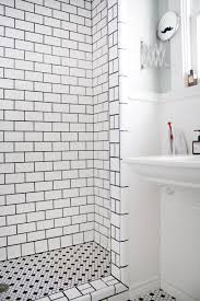 Image Bathroom Fantastic Tile Job White Tiles Black Grout From Erics Stylish Sunshinefilled House Apartment Therapy Pinterest Erics Stylish Sunshinefilled House In 2019 Home Sweet Home