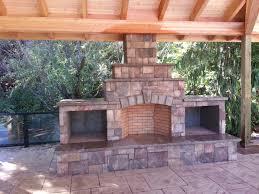 outdoor fireplace wood bo raised hearth fire brick wood burning fireplace