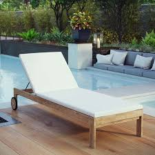 modway upland outdoor patio teak chaise
