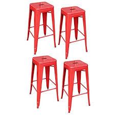 red bar stools. AmeriHome Metal Bar Stool Set, 30-Inch, Red, Set Of 4 Red Stools
