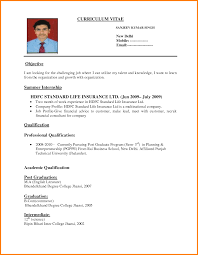 Resume Format For Job Application