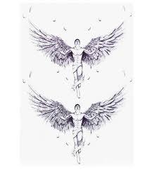 2 шт большие крылья тату дизайн ангельские крылья временные татуировки боди арт