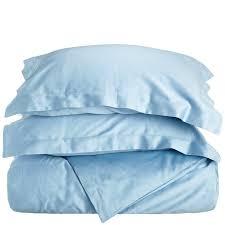 impressions blue twin xl cotton comforter set 400 thread count