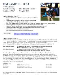 Football Player Resume Template Hockey player resume template best of football resume 1