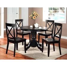 small black dining table 5 piece black pedestal set small black dining table and 4 chairs