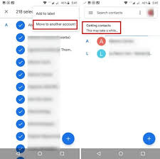 how to transfer contacts from one gmail