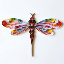 Dragonflies Wall Decor Quilled Dragonfly Etsy