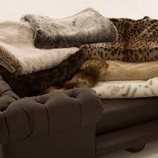 silky soft faux fur throws luxury dog