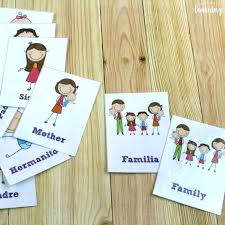 Flashcards Template Word Family Flashcards Family Flashcards For Kids Word Family Flashcards
