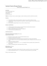 Property Management Resume Samples Property Manager Resume Property Managers Resume For Property