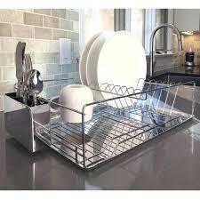 dish drying rack diamond home modern kitchen chrome plated 2 tier dish drying rack and draining dish drying rack