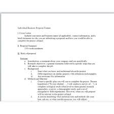 Short Project Proposal Template Business Research Ideas