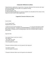Personal Character Letter Sample Sirenelouveteau Co