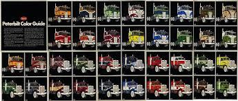 2019 Peterbilt Color Chart Peterbilt Paint Schemes Color Guide Peterbilt Trucks