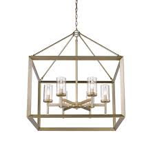golden lighting 2073 6 wg clr 6 light chandelier white gold clear