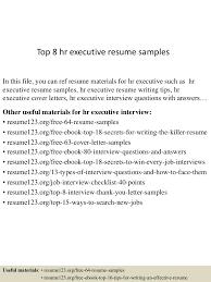 Hr Executive Resume Samples Splixioo