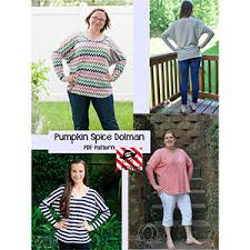 Patterns For Pirates Delectable Patterns for Pirates Pumpkin Spice Dolman Sewing Pattern Girl