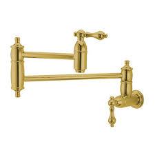 eod polished brass restoration wall mount pot filler polished brass