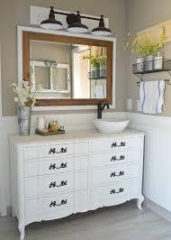 Painted Bathroom Countertops Honest Review Of My Chalk Painted Bathroom Vanities
