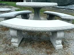 patio table and bench concrete table benches and bench round landscape tables patio set complete with patio table and bench large round
