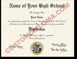 custom fake us high school diplomas design only custom  custom fake high school diploma straight school centered state seal hsd1