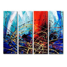 wall art ideas design display genuine multiple piece wall art oil painting signed artist hang primitive large decorative ideas abstract four canvas glass  on large 4 piece wall art with wall art ideas design display genuine multiple piece wall art oil