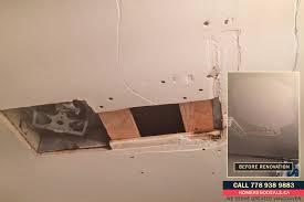 bathroom ceiling repair. How To Repair Water Damaged Ceiling Plaster Bathroom