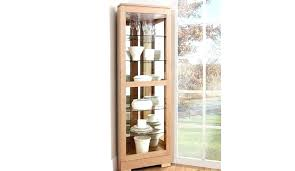 white corner display cabinet with glass doors homemakers furniture living wall units cabinets