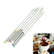 6PCS/Set <b>Stainless Steel Chocolate Fork</b> Hot Pot Forks Cheese ...