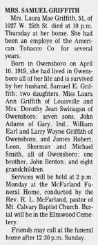 Laura Mae Griffith Obituary - Newspapers.com